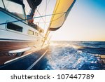 sailing to the sunrise | Shutterstock . vector #107447789