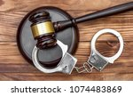 Gavel With Stand And Handcuffs...