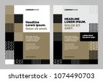 brochure layout template  cover ...   Shutterstock .eps vector #1074490703