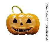 3d render  halloween concept   Shutterstock . vector #1074497960