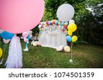 decoration with balloons for a... | Shutterstock . vector #1074501359