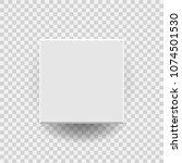 white blank package cardboard... | Shutterstock .eps vector #1074501530
