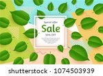 spring background for sale with ... | Shutterstock .eps vector #1074503939