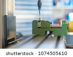 cnc milling machine processing... | Shutterstock . vector #1074505610
