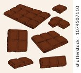 hand drawn sketch chocolate... | Shutterstock .eps vector #1074507110