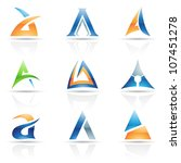 illustration of abstract icons... | Shutterstock . vector #107451278