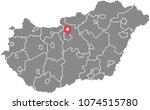 hungary map vector outline... | Shutterstock .eps vector #1074515780
