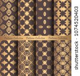 luxury seamless patterns... | Shutterstock .eps vector #1074520403