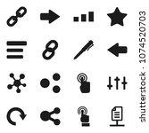 flat vector icon set   pen...
