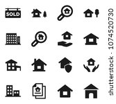 flat vector icon set   house... | Shutterstock .eps vector #1074520730