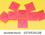 mock up colored red empty... | Shutterstock . vector #1074524138