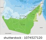 detailed united arab emirates... | Shutterstock .eps vector #1074527120