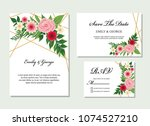 wedding invite  invitation ... | Shutterstock .eps vector #1074527210
