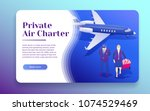 air travel flat 3d isometric... | Shutterstock .eps vector #1074529469