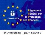 rgpd   french reglement general ... | Shutterstock .eps vector #1074536459