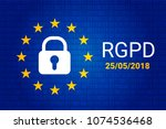rgpd is gdpr  general data... | Shutterstock .eps vector #1074536468