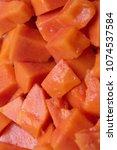 Small photo of Texture background Fruit flesh papaya