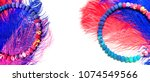 colored feathers. carnival.     ...   Shutterstock . vector #1074549566