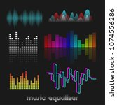 set of colorful vector digital... | Shutterstock .eps vector #1074556286