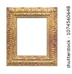 gilded wooden frame isolated on ...   Shutterstock . vector #1074560648