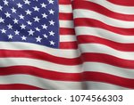 a 3d illustration of the flag... | Shutterstock . vector #1074566303