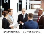 senior expert or leader of team ... | Shutterstock . vector #1074568448