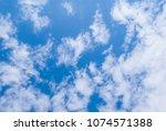 beautiful blue cloudy sky...   Shutterstock . vector #1074571388