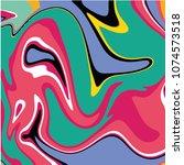 marbel fluid liquid vector... | Shutterstock .eps vector #1074573518