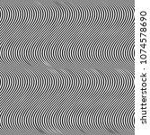 vertical curved wavy lines... | Shutterstock . vector #1074578690