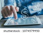 financial concept  online... | Shutterstock . vector #1074579950