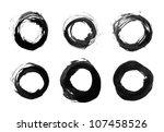 black brushstroke in form of... | Shutterstock . vector #107458526