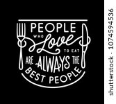 People Who Love To Eat Kitchen...