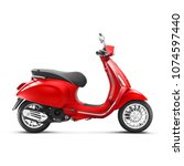 motor scooter isolated on white ... | Shutterstock . vector #1074597440