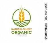 natural wheat organic logo... | Shutterstock .eps vector #1074598856
