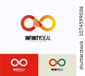 infinity deal logo template... | Shutterstock .eps vector #1074599036