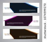 modern banner vector abstract...   Shutterstock .eps vector #1074599270