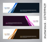 modern banner vector abstract... | Shutterstock .eps vector #1074599429