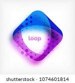 vector square loop business... | Shutterstock .eps vector #1074601814