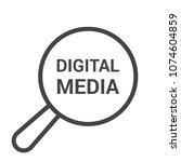 marketing concept  magnifying... | Shutterstock .eps vector #1074604859