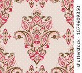seamless pattern based on... | Shutterstock .eps vector #1074609350