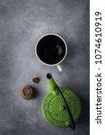 aged fermented pu erh tea in... | Shutterstock . vector #1074610919