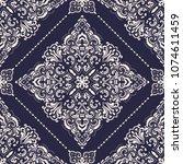 vector damask seamless pattern... | Shutterstock .eps vector #1074611459
