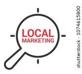 marketing concept  magnifying... | Shutterstock .eps vector #1074615800