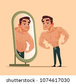 handsome strong man character... | Shutterstock .eps vector #1074617030