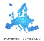 europe map   abstract geometric ... | Shutterstock .eps vector #1074619370