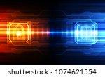 finger print scanning... | Shutterstock .eps vector #1074621554