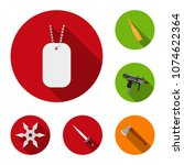 types of weapons flat icons in... | Shutterstock .eps vector #1074622364