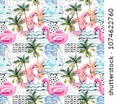 watercolor seamless pattern... | Shutterstock . vector #1074622760