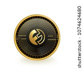 funfair cryptocurrency coin... | Shutterstock .eps vector #1074624680
