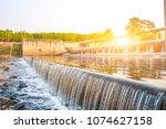 dam or dike dam called. rubber...   Shutterstock . vector #1074627158